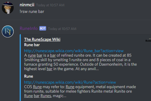 Image result for runinfo discord bot